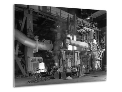 Charging an Electric Arc Furnace, Park Gate Iron and Steel Co, Rotherham, South Yorkshire, 1964-Michael Walters-Metal Print
