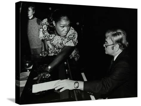 Singer Carrie Smith with Her Pianist Lou Stein, Forum Theatre, Hatfield, Hertfordshire, 1978-Denis Williams-Stretched Canvas Print