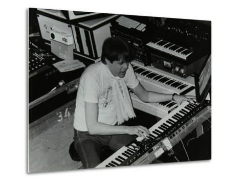 German Electronic Musician Klaus Schulze at the Forum Theatre, Hatfield, Hertfordshire, 1983-Denis Williams-Metal Print