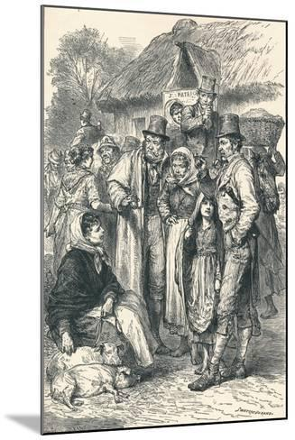 Irish Peasants, 1896--Mounted Giclee Print