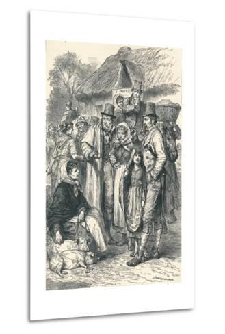 Irish Peasants, 1896--Metal Print
