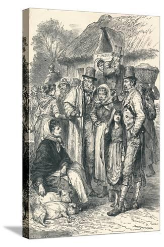 Irish Peasants, 1896--Stretched Canvas Print