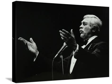 Howard Keel in Full Song at the Forum Theatre, Hatfield, Hertfordshire, 14 May 1983-Denis Williams-Stretched Canvas Print