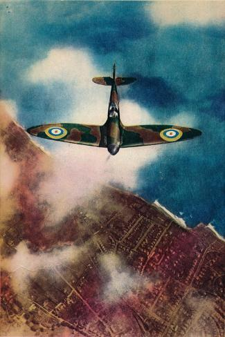 A Vickers Supermarine Spitfire, 1940--Stretched Canvas Print
