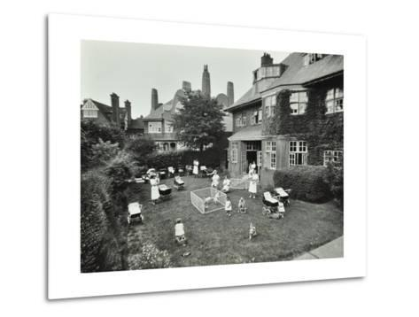 Children and Carers in a Garden, Hampstead, London, 1960--Metal Print