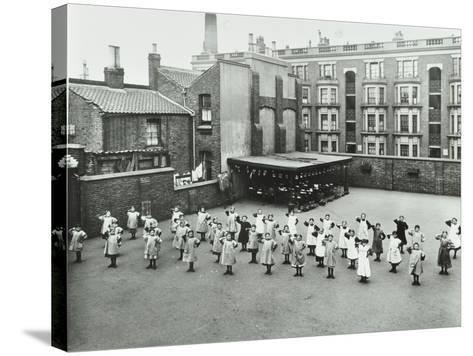Open Air Exercise Class, Ben Jonson School, Stepney, London, 1911--Stretched Canvas Print