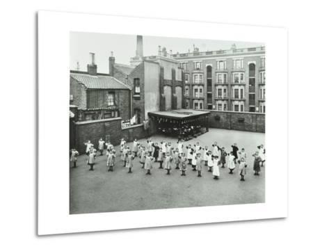 Open Air Exercise Class, Ben Jonson School, Stepney, London, 1911--Metal Print