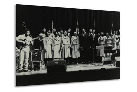 The Inspirational Choir on Stage at the Forum Theatre, Hatfield, Hertfordshire, 1985-Denis Williams-Metal Print