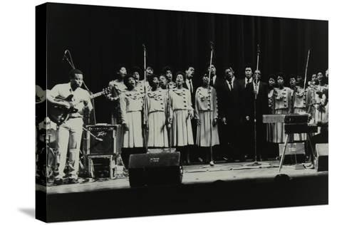 The Inspirational Choir on Stage at the Forum Theatre, Hatfield, Hertfordshire, 1985-Denis Williams-Stretched Canvas Print