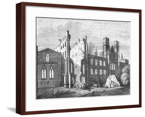The Houses of Parliament after the Fire in 1834,--Framed Art Print