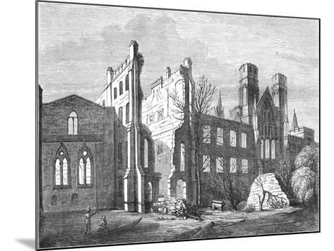 The Houses of Parliament after the Fire in 1834,--Mounted Giclee Print