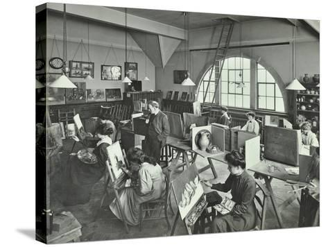 Female Students Painting Still Lifes, Hammersmith School of Arts and Crafts, London, 1910--Stretched Canvas Print