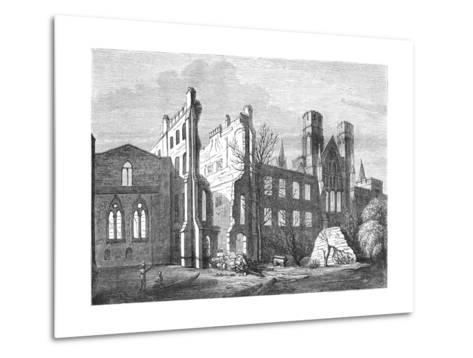 The Houses of Parliament after the Fire in 1834,--Metal Print