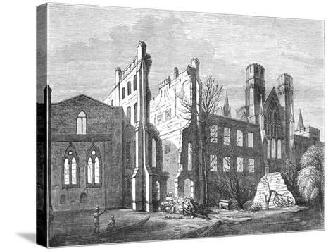 The Houses of Parliament after the Fire in 1834,--Stretched Canvas Print