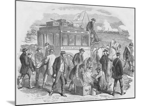 The Red Cross Society at Work Outside Paris, 1870, (1884)--Mounted Giclee Print
