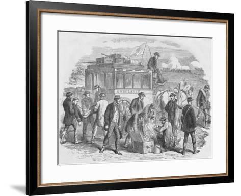 The Red Cross Society at Work Outside Paris, 1870, (1884)--Framed Art Print