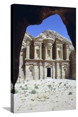 El Deir (The Monastery), Petra, Jordan-Vivienne Sharp-Stretched Canvas Print