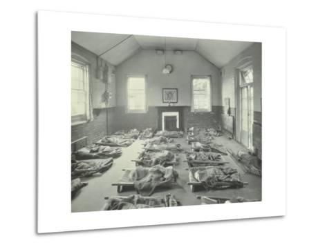 Young Children Asleep at Mitcham Residential School, London, 1931--Metal Print