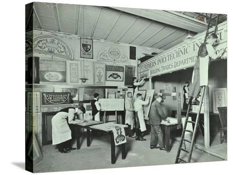 Students from Trade Classes, Northern Polytechnic, London, 1911--Stretched Canvas Print