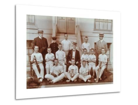 Cricket Team at the Boys Home Industrial School, London, 1900--Metal Print