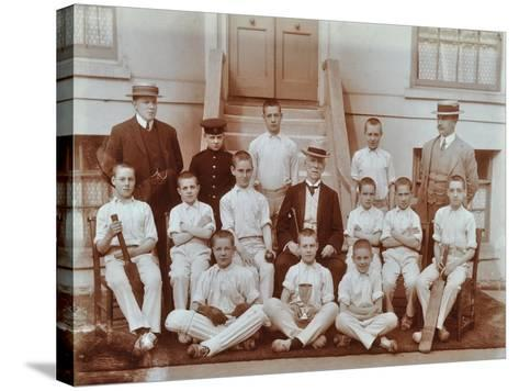 Cricket Team at the Boys Home Industrial School, London, 1900--Stretched Canvas Print