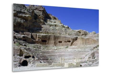 Roman Theatre, Petra, Jordan-Vivienne Sharp-Metal Print