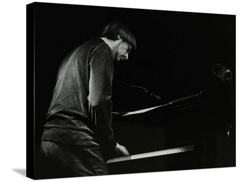 Michael Garrick on the Piano at the Stables, Wavendon, Buckinghamshire-Denis Williams-Stretched Canvas Print