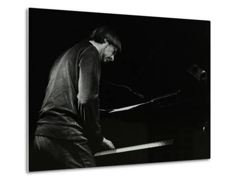 Michael Garrick on the Piano at the Stables, Wavendon, Buckinghamshire-Denis Williams-Metal Print