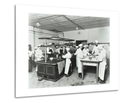Male Cookery Students, Westminster Technical Institute, London, 1910--Metal Print
