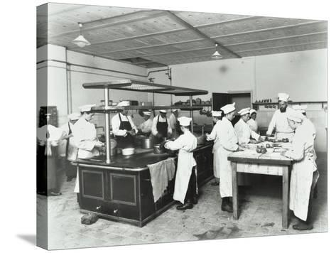 Male Cookery Students, Westminster Technical Institute, London, 1910--Stretched Canvas Print