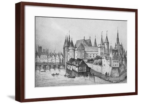 The Pont Aux Meuniers and Part of the Palais Du Roi De La Cite in 1556, 1915--Framed Art Print