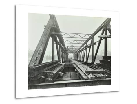 Erection of Emergency Thames Bridge, London, 1942--Metal Print