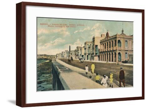 Modern Buildings in Gulf Avenue, Havana, Cuba, C1910--Framed Art Print