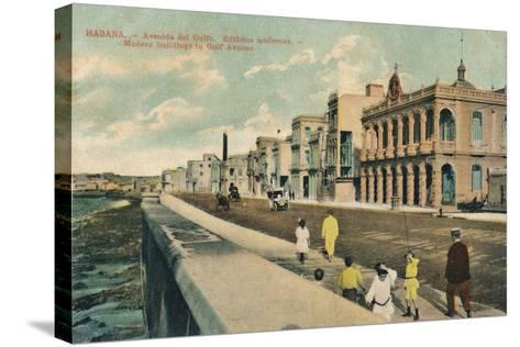 Modern Buildings in Gulf Avenue, Havana, Cuba, C1910--Stretched Canvas Print