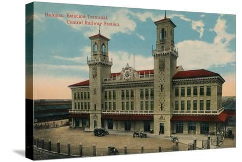 Havana Central Railway Station, Cuba, C1912--Stretched Canvas Print