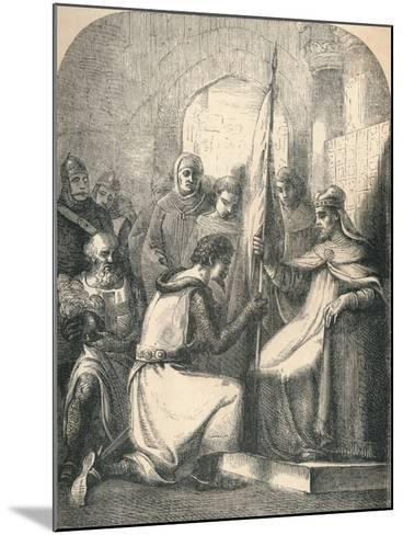 Hugh De Vermandois Receiving a Consecrated Banner from Pope Urban, 1869--Mounted Giclee Print