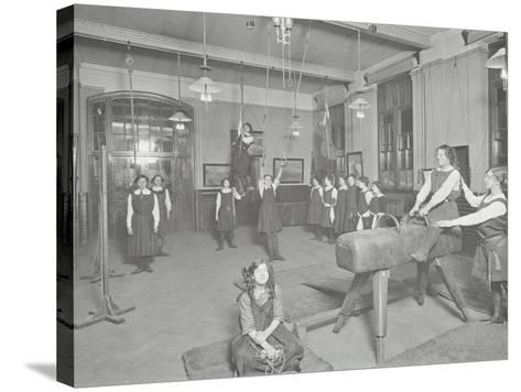 Gymnastics Lesson, Laxon Street Evening Institute for Women, London, 1914--Stretched Canvas Print