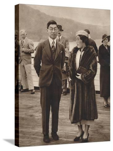 Prince and Princess Chichibu Arriving on the Queen Mary, April 12Th, 1937--Stretched Canvas Print