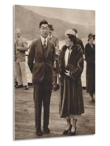 Prince and Princess Chichibu Arriving on the Queen Mary, April 12Th, 1937--Metal Print