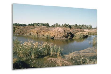 River Tigris by the Tower of Babel, Babylon, Iraq-Vivienne Sharp-Metal Print