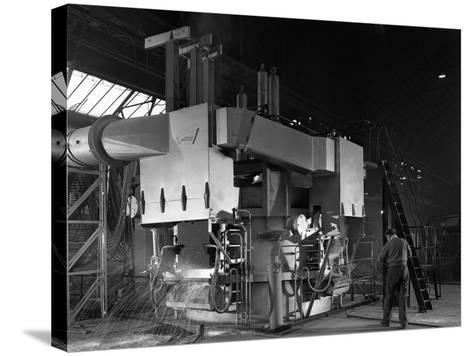 Arc Furnace in Operation, Sheffield, South Yorkshire, 1964-Michael Walters-Stretched Canvas Print