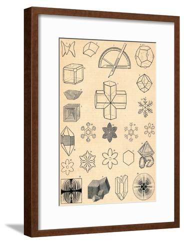 Crystallography, C19th Century--Framed Art Print