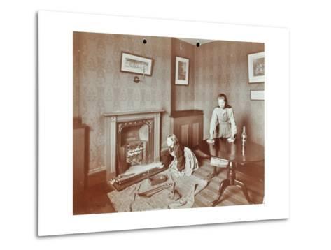 Housewifery Lesson, Morden Terrace School, Greenwich, London, 1908--Metal Print