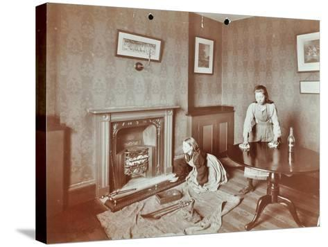 Housewifery Lesson, Morden Terrace School, Greenwich, London, 1908--Stretched Canvas Print