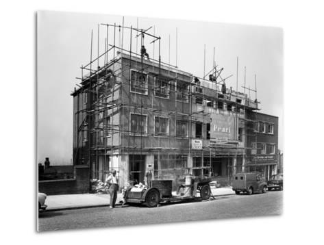 Commercial Shop Unit Construction in Rotherham, South Yorkshire, 1962-Michael Walters-Metal Print