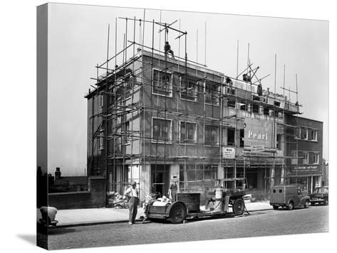 Commercial Shop Unit Construction in Rotherham, South Yorkshire, 1962-Michael Walters-Stretched Canvas Print