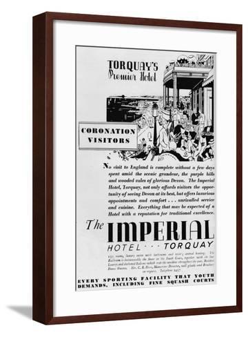 The Imperial Hotel, Torquay, 1937--Framed Art Print
