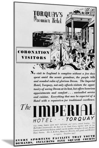 The Imperial Hotel, Torquay, 1937--Mounted Giclee Print