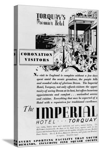 The Imperial Hotel, Torquay, 1937--Stretched Canvas Print