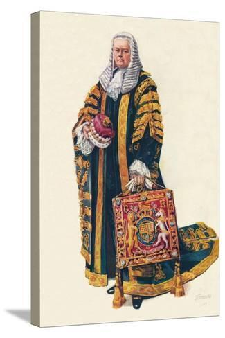 The Lord Chancellor in His Coronation Robes, 1937--Stretched Canvas Print